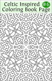 Fancy Celtic Inspired Coloring Book Page