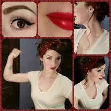 Rosie The Riveter Halloween Tutorial by Rosie The Riveter Hair And Makeup Mugeek Vidalondon
