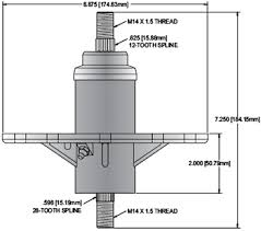 replacement spindle for murray 42 46 52 deck spindle assembly