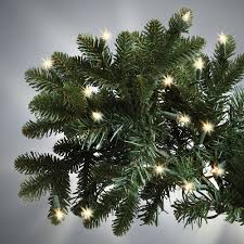 Slim Pre Lit Christmas Trees by The World U0027s Best Prelit Noble Fir 6 5 U0027 Slim Led Hammacher