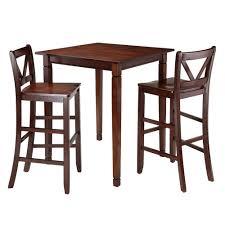 3 Piece Kingsgate Set High Table With V Back Bar Stools ...