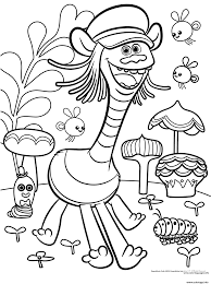 Coloriage Cooper From Trolls With Insects Dessin