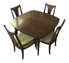 1960s Mid-Century Modern Broyhill Dining Set - 5 Pieces | Chairish 1960s Ding Room Table Chairs Places Set For Four Fringed Stanley Fniture Ding Chairs By Paul Browning Set Of 6 For Proper Old Room Tempting Large Chair Pads As Well Broyhill Newly Restored Vintage Aptdeco Four Rosewood Domino Stildomus Italy Ercol Ding Room Table And 4 Chairs In Cgleton Cheshire Teak Table Greaves Thomas Mid Century Duck Egg Green Bernhardt Modern Walnut Brass Lantern Antiques Niels Otto Mller Two Model No 85 Teak