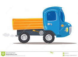 Funny Orange With Blue Truck Stock Vector - Illustration Of Toss ...