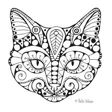 Beautiful Coloring Pages Of Cats 17 For Books With