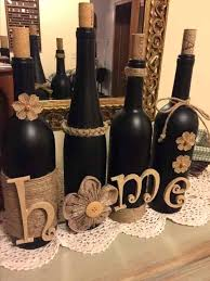 Rustic Decorations From Recycled Wine Bottles Breathtakingly Homemade Wedding For