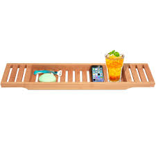bamboo bathtub caddy large size will fit most tubs amazon ca