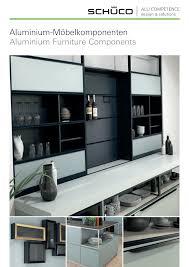 schüco aluminium möbelkomponenten