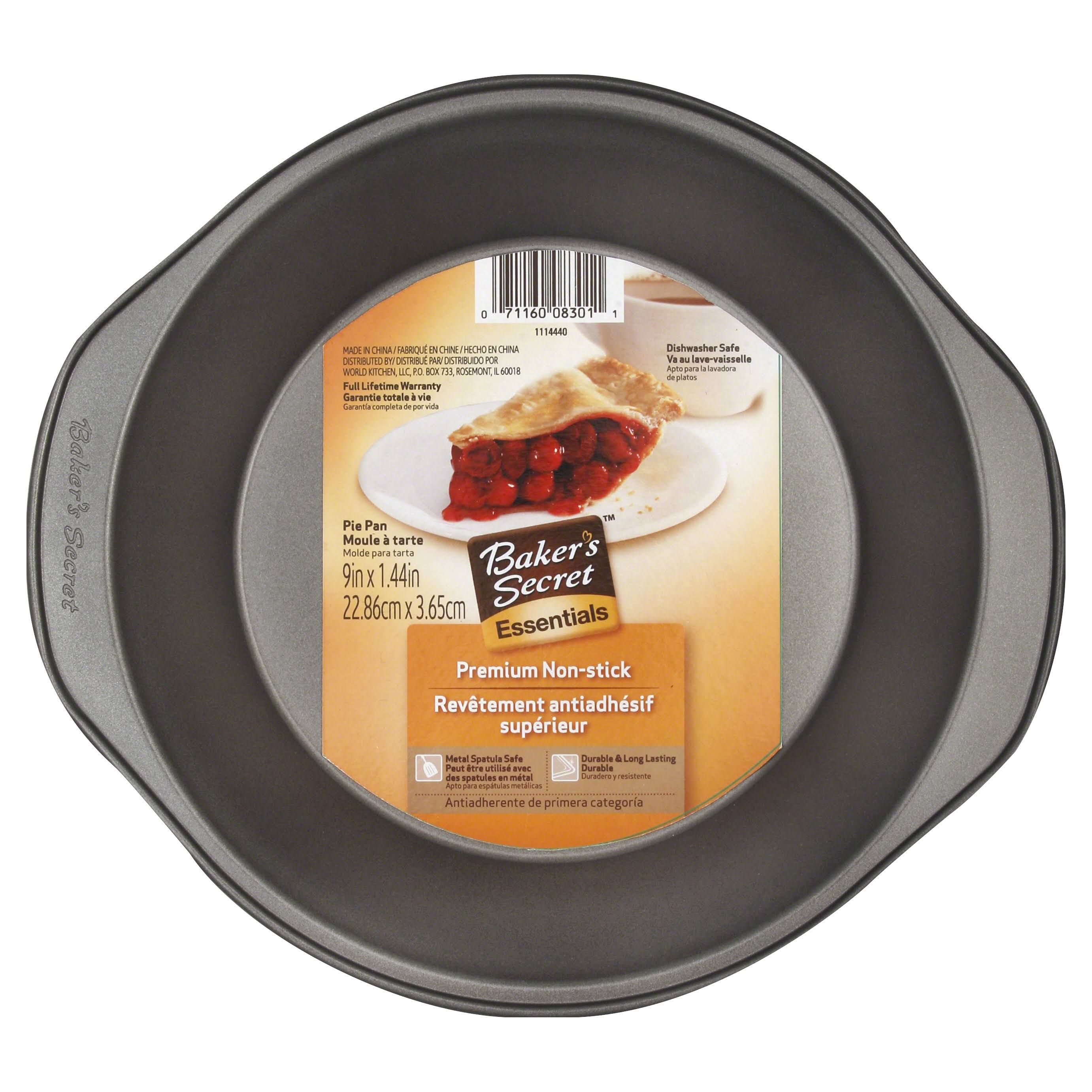 World Kitchen Baker's Secret Pie Pan - 9in