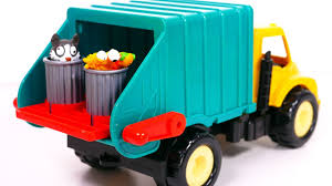 Garbage Truck Playset For Kids!! Toy Vehicles For Boys - YouTube
