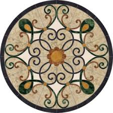 custom floor medallions marble backsplash medallion depot