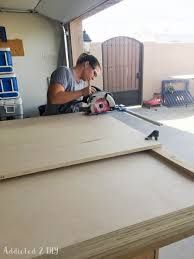 diy modern farmhouse murphy bed how to build the bed and