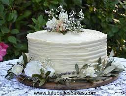 3 Layered Red Velvet Wedding Cake With Ridged Cream Cheese Frosting