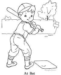 Baseball Coloring Picture For Kids Width