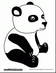 Brilliant Cute Baby Panda Coloring Pages With And For Preschool
