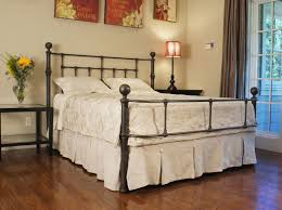 Value City Metal Headboards by Stylish Wrought Iron Bed Frame King Intended For Size Architecture