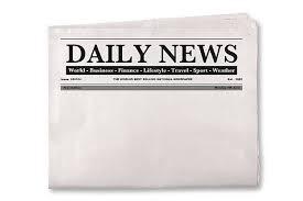 Blank Daily Newspaper Stock Photo