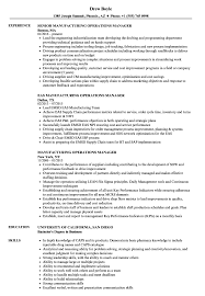 Download Manufacturing Operations Manager Resume Sample As Image File