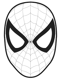 Spiderman Logo Coloring Pages Mask Template
