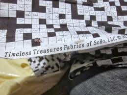 Heavy Curtain Fabric Crossword by Male Pattern Boldness Move Over