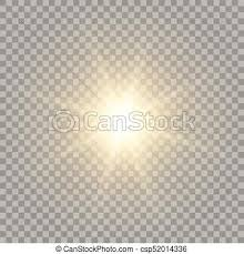Yellow Realistic Sun Naturally Looking Golden Flash With Vectors