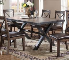 Earvin Weathered Cherry Wood Metal Rectangular Dining Table By Acme
