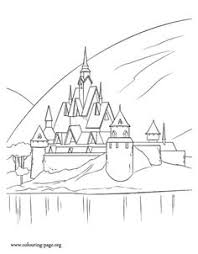 The Royal Family Of Arendelle Lives In A Beautiful Castle Have Fun With This Awesome Disney Frozen Movie Coloring Page