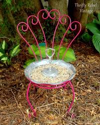 Squirrel Feeder Adirondack Chair by Repurposed Chair Bird Feeder Thrifty Rebel Vintage