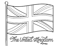 Colouring Pages Union Jack Flag Coloring Page