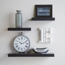 DecorationRustic Wood Floating Wall Shelves Flying Attach Shelf To Dark Grey