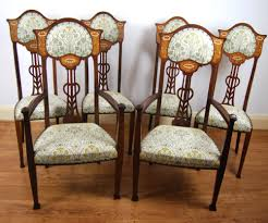 Stunning Set Of Six Art Nouveau Inlaid Mahogany High Back Chairs (2 ... Set Of 8 Vintage Midcentury Art Nouveau Style Boho Chic Italian Stunning Of Six Inlaid Mahogany High Back Chairs 2 Pair In Antiques Atlas Lhcy Solid Wood Ding Chair Armchair Lounge Nordic Style A Oak Set With Table Seven Chairs And A Side Ding Suite Extension Table France Side In Leather Chairish Gauthierpoinsignon French By Gauthier Louis Majorelle Caned An Edouard Diot Art Nouveau Walnut And Brass Ding Table Four 1930s American Classical Shieldback 4