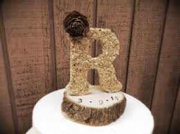 Amazing Country Wedding Cake Toppers With Rustic Topper Wooden Letter Fall Winter Weddings