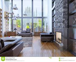 100 How To Design A Loft Apartment Partment Interior With Panoramic Window Interior Stock