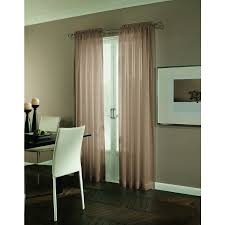 Light Filtering Privacy Curtains by Shop Allen Roth Williamston 84 In Linen Polyester Rod Pocket