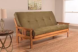 amazon com monterey full size futon sofa bed butternut wood