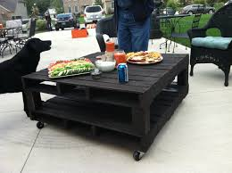 Full Size Of Patio Outdoor Black Pallet Furniture Square Portable Table