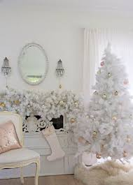 Elegant Vintage Tree With Gold Ornaments And A Garland Over The Mantel That Echoes It