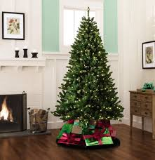 Pre Lit Christmas Tree Rotating Base by Color Switch Plus 7 5 U0027 550 Dual Color Led Pre Lit Cortland Pine