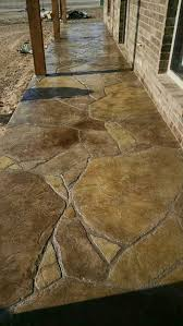 Arizona Tile Ontario Slab Yard by Stamped And Stained Concrete Patio In Flagstone Pinterest