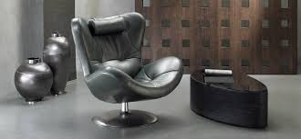 Natuzzi Swivel Chair Brown by Armchairs Natuzzi Italia
