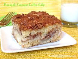 Pineapple Coconut Coffee Cake