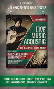 Live Music Acoustic Flyer Poster