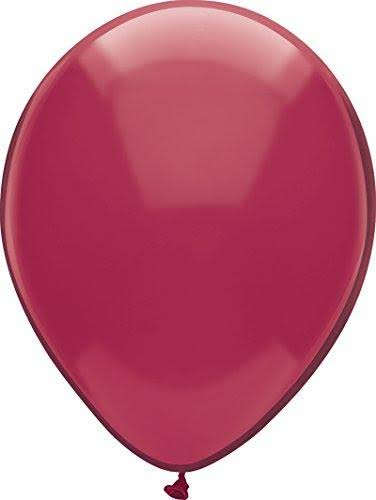 PartyMate Round Solid Color Latex Balloons - Deep Burgund, 72ct, 12""