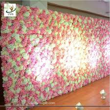 China UVG White Flower Wall Backdrop With Silk Rose And Hydrangea For Wedding Stage Decoration Supplier