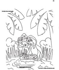 Parshah Coloring Book Click To Print Yocheved Hides Baby Moses