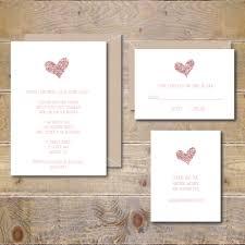 Glitter Wedding Invitations Rose Gold