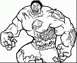 Beautiful How To Draw Zombie Coloring Pages With Incredible Hulk And