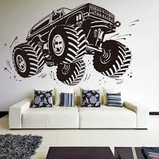 Aliexpress.com : Buy Large Car Monster Truck Wall Sticker Boy Room ... Monster Truck Bedding Queen Size Bedroom Blazethe Machines Blue Wall Sticker Cool Vehicle Decal Boys Unique Purple Toddler Bed With Staircase Set In Brown Hot Wheels Jam 164 Assorted The Warehouse Personalised Name Or Girls Flag Racing Decor Hotwheels 68501 8 Lovely Hot Wheels Matchbox Cars 12 Creative For 2018 Home Design Interior Grave Digger In Pinterest Room Monster Truck Birthday Party Ideas Moms Spiderman Diecast Metal Walmartcom