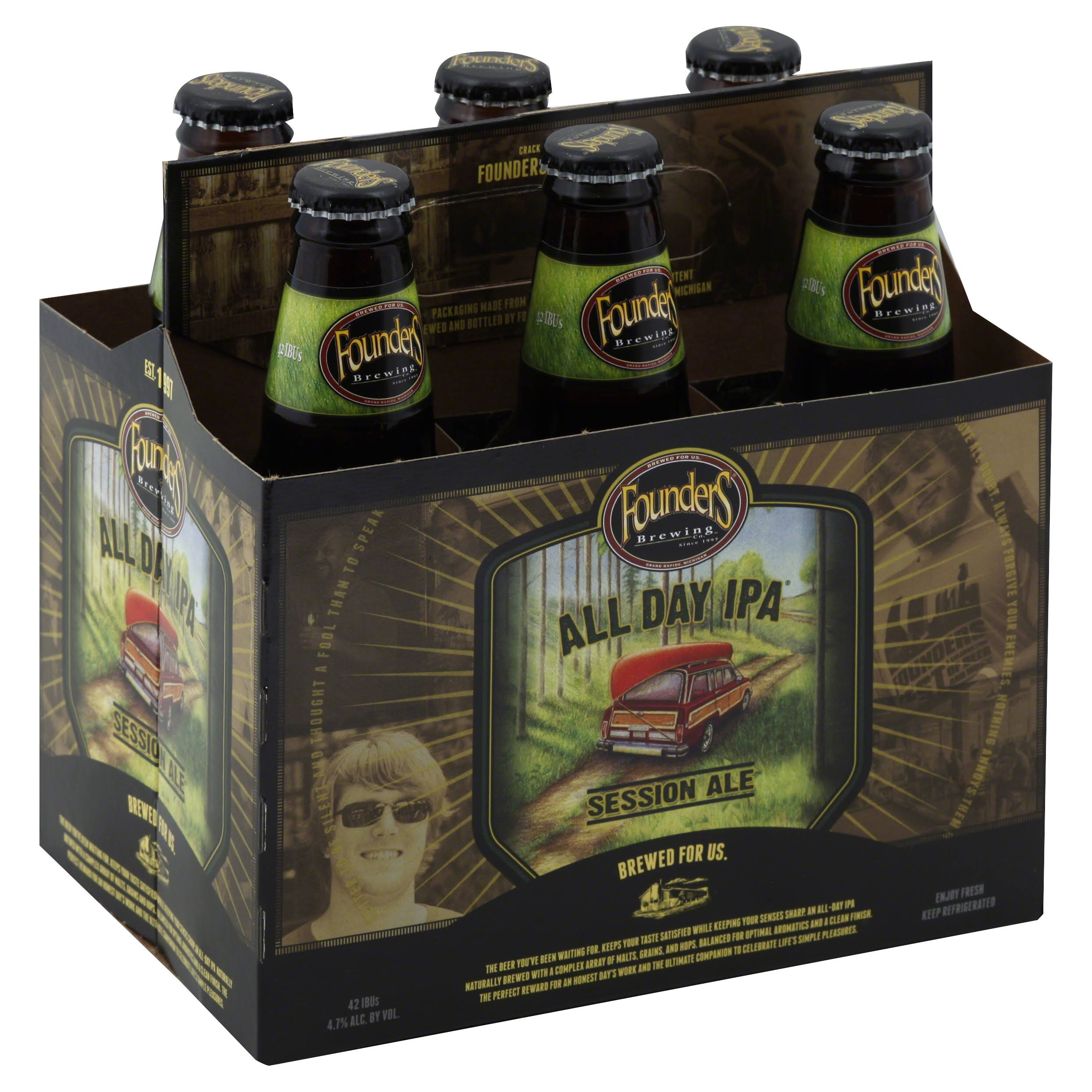 Founders Brewing All Day IPA Session Ale - 6 x 355ml