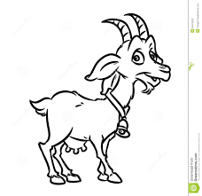 Coloring Pages Goat Stock Illustration